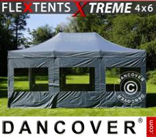 Tenda Eventos Xtreme 4x6m Cinza, incl. 8 paredes laterais