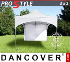 "Tenda Eventos PRO ""Arched"" 3x3m Branco, incl. 4 paredes laterais"