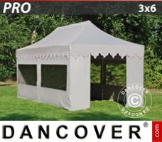 "Tenda Eventos PRO ""Morocco"" 3x6m Latte, inclui 6 paredes laterais"