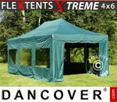 Tenda Eventos Xtreme 4x6m Verde, incl. 8 paredes laterais