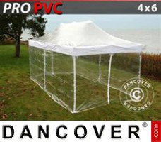Tenda Eventos PRO 4x6m Transparente, incl. 8 paredes laterais