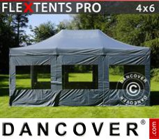 Tenda Eventos PRO 4x6m Cinza, incl. 8 paredes laterais