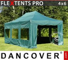 Tenda Eventos PRO 4x6m Verde, incl. 8 paredes laterais