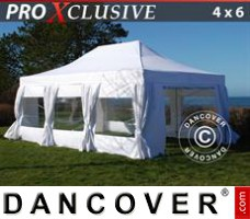 Tenda Eventos PRO 4x6m Branca, incl. 8 paredes laterais & cortinas...