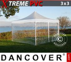 Tenda Eventos Xtreme 3x3m Transparente, incl. 4 paredes laterais