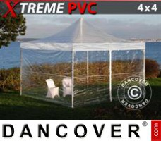 Tenda Eventos Xtreme 4x4m Transparente, incl. 4 paredes laterais
