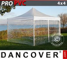 Tenda Eventos PRO 4x4m Transparente, incl. 4 paredes laterais