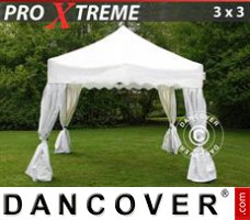 "Tenda Eventos Xtreme ""Wave"" 3x3m Branco, incl. 4 cortinas..."