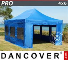 Tenda Eventos PRO 4x6m Azul, incl. 8 paredes laterais