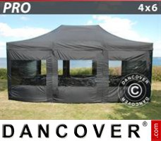 Tenda Eventos PRO 4x6m Preto, incl. 8 paredes laterais
