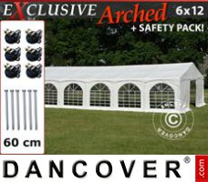 "Tenda Eventos Exclusive 6x12m PVC, ""Arched"", Branco"
